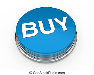 3d button buy blue