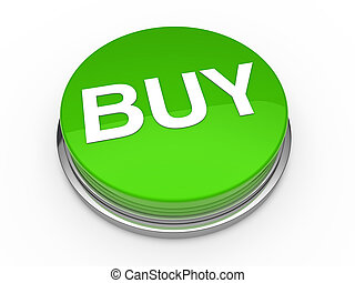 3d button buy green