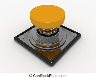 3d button concept. illustration on white background