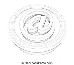 3d button email Internet push
