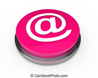 3d button email pink