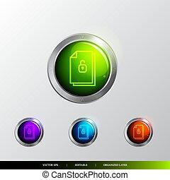 3D Button File unlocked icon.