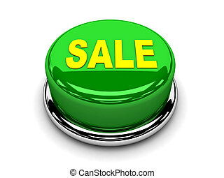 3d button green sale start push