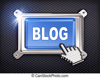 3d button hand cursor - blog
