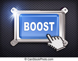 3d button hand cursor - boost