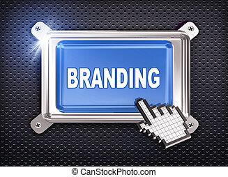3d button hand cursor - branding