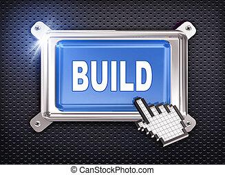 3d button hand cursor - build