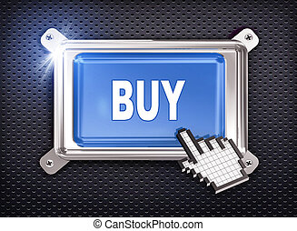 3d button hand cursor - buy