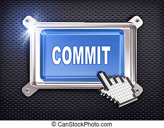 3d button hand cursor - commit