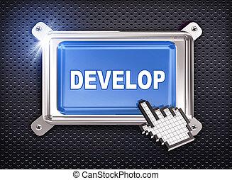 3d button hand cursor - develop