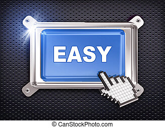 3d button hand cursor - easy