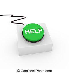 3d button help