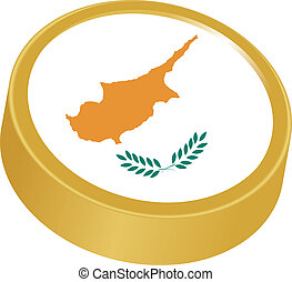 3d button in colors of Cyprus