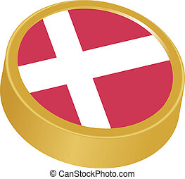 3d button in colors of Denmark