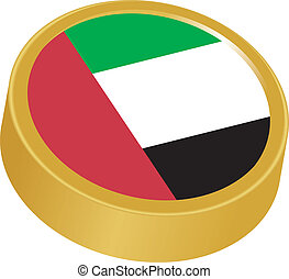 3d button in colors of Emirates