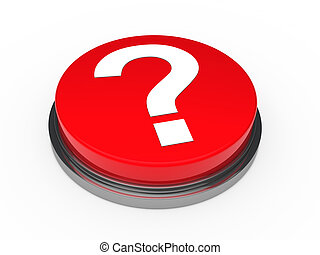 3d button red question mark