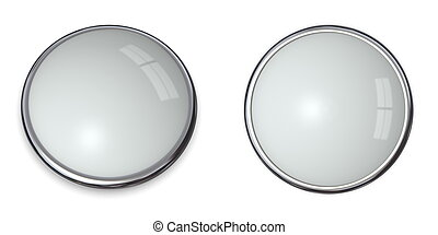 3D Button Silver Grey - 3D button template in solid...
