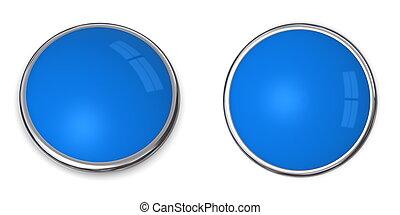 3D Button Solid Light Blue