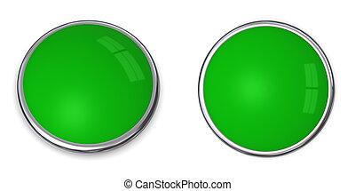 3D Button Solid Light Green