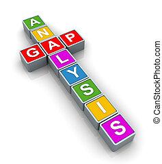 3d Buzzword gap analysis - 3d text cubes of buzzword \'gap...