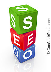 3d buzzword text 'seo'