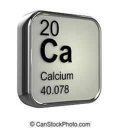 3d Calcium element - 3d render of the calcium element from...