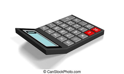 3D calculator on white background