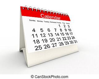 3d, calendário