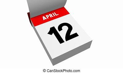 3D calendar - April