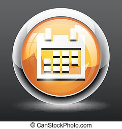 3D Calendar Icon button