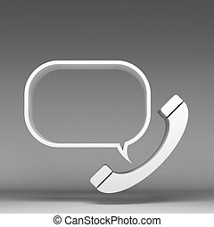 3d call icon