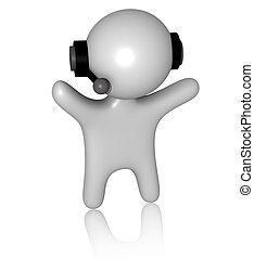 3d callcenter guy