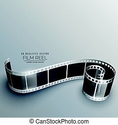 3d camera film strip vector background