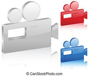 3D camera symbol