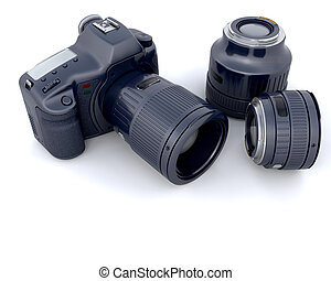 3D camera with lens