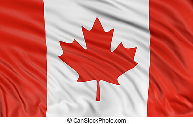 3D Canada Flag - 3D Canada Flag with fabric surface texture....