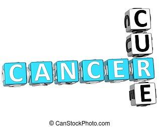 Cancer Cure Crossword - 3D Cancer Cure Crossword on white ...