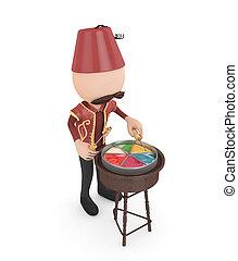 3d candy salesman -ramadan concept-isolated
