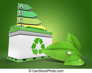 3d car battery with energy rating