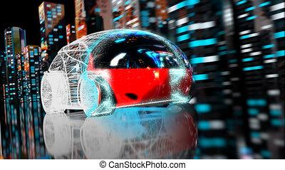 3D Car transformation - 3D Animation