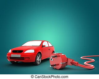 3d car with power cord