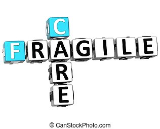 3D Care Fragile Crossword