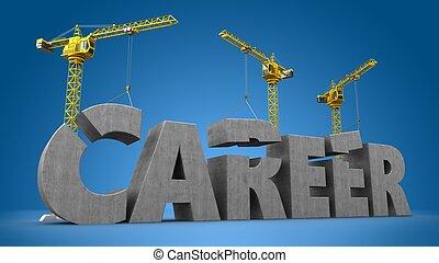 3d career building 3d illustration of cranes building