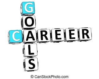 3D Career Goals Crossword