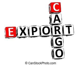 3D Cargo Export Crossword