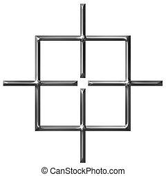 3d, carrée, cible