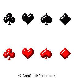 3d, cartão jogo serve