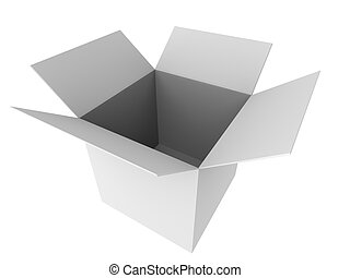 3d carton - 3d rendered illustration of a simple grey box