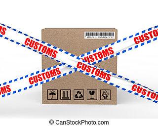 3d carton box with customs control