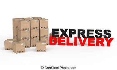 3d carton boxes express delivery